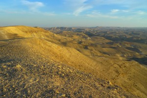 The beautiful arid landscape of the Jerusalem desert